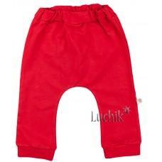(119600) [р. 80] Штанишки трикотажные для малышей. VEO BABY 12451. Красный. Стрейч-Футер