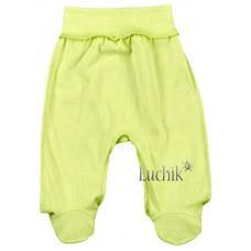 (126312) [р. 56] Ползунки-штанишки теплые для новорожденного. МАМИНЕ ЧАДО 11-12/2. Салатовый. Футер С Начесом