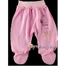 (101484) [р. 62] Ползунки-штанишки детские на широкой резинке. BABY LIFE 9-019н. Розовый1. Интерлок
