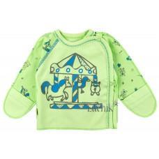 (82894) [р. 56] Распашонка для новорожденного ВЕСЕЛЫЙ ПАРК. SMIL 101153. Зеленое Яблоко. Интерлок