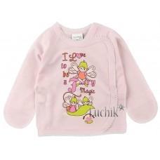 (81386) [р. 56] Распашонка для новорожденного МАЛЕНЬКАЯ СТРАНА. GARDEN BABY 18085-02. Розовый. Интерлок