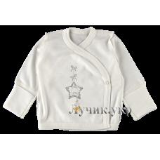 (93547) [р. 50] Распашонка трикотажная для новорожденного. ТАТОШКА В09653. Молочный. Интерлок