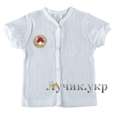 (70671) [р. 74] Кофта с коротким рукавом для малыша. GARDEN BABY 17047-88. Белый. Ажурный Ластик