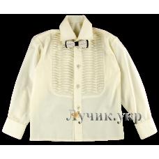 (86859) [р. 140] Рубашка классическая для мальчика. SHPAK 55. Молочный. Рубашечная Ткань