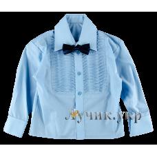 (86865) [р. 110] Рубашка классическая для мальчика. SHPAK 55. Голубой1. Рубашечная Ткань