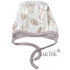 (323020) [р. 36 см] Чепчик для новорожденного. MARIO KIDS 04-01-10. Молочный. Интерлок