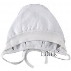 (114193) [р. 39 см] Чепчик для новорожденного. SMIL 118506. Белый. Футер С Начесом