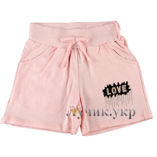 (106565) [р. 116] Шорты для девочки . BO&BO 18-5419. Розовый Меланж. Стрейч-Кулир