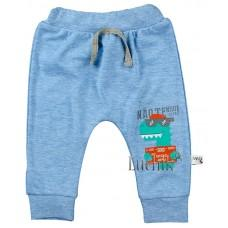 (127481) [р. 62] Штанишки трикотажные для мальчика. VEO BABY 1220. Голубой Меланж. Интерлок