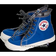 (79429) [р. 31] Кеды/кроссовки текстильные для мальчика BORYS. ZETPOL 3288. Голубой. Текстиль